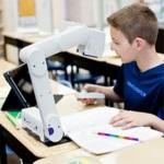 Photo of Student Using E-Bot